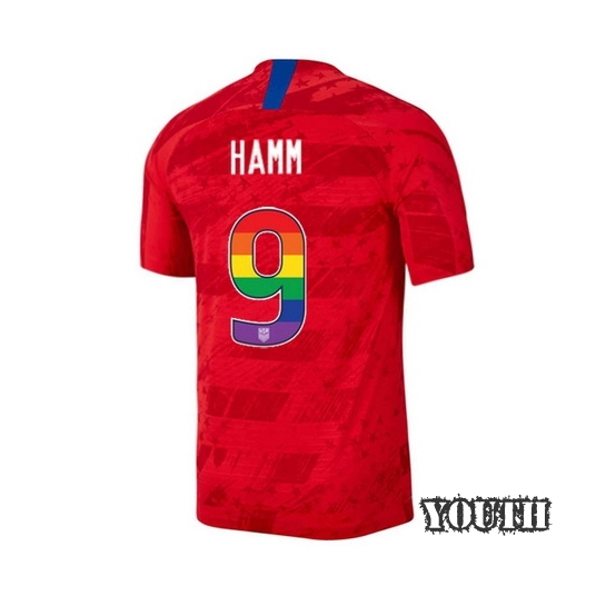 2019/20 USA Red Mia Hamm Youth Jersey Rainbow Numbers