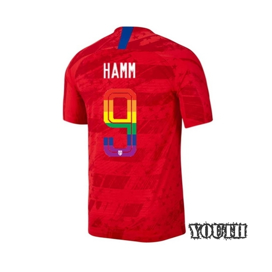 2019/20 USA Red Mia Hamm Youth Soccer Jersey PRIDE