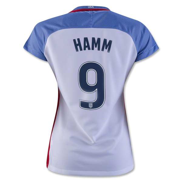 2016/17 USA Home Mia Hamm Women's 3-Star Soccer Jersey (#9)