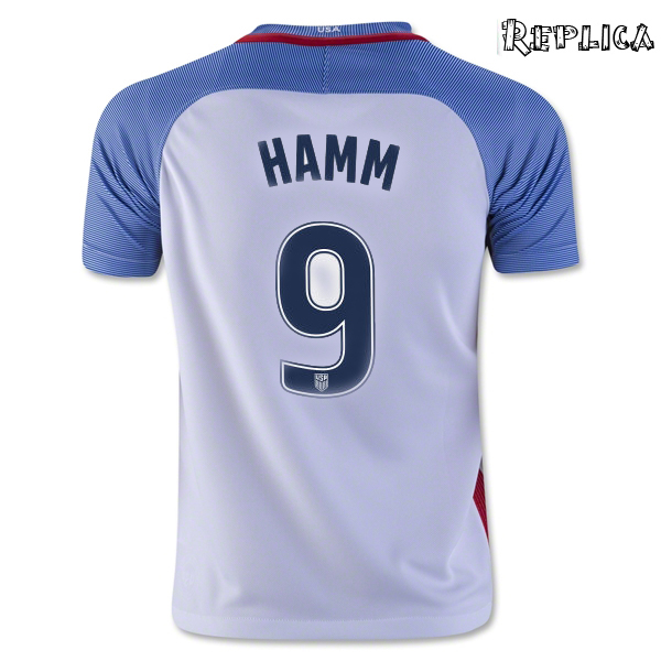 2016/17 USA Home Mia Hamm Replica Men's Soccer Jersey