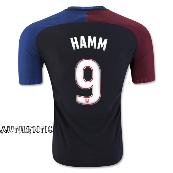 2016/17 USA Away Mia Hamm Men's Authentic Soccer Jersey